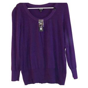 Purple 1x sweater